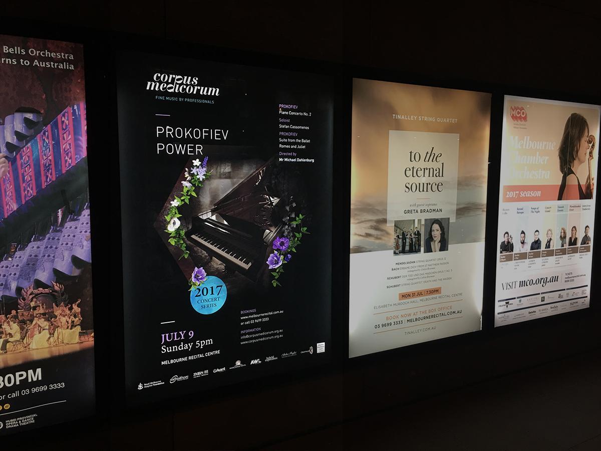 Melbourne Recital Centre Backlit Poster